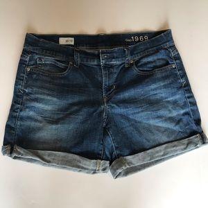 Gap 1969 Size 30/10 Cuffed Jean Shorts